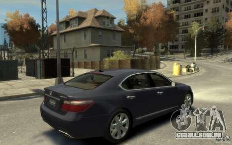Lexus LS 600h L v1.1 para GTA 4 vista direita