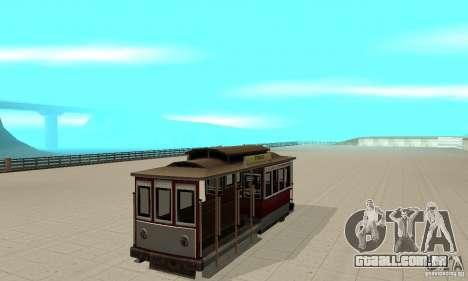 Tram para GTA San Andreas esquerda vista