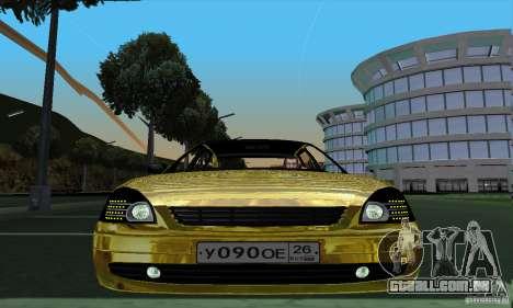 Lada Priora Gold para GTA San Andreas traseira esquerda vista