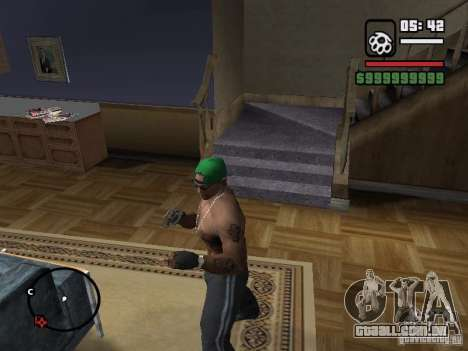 Luvas sem dedos para GTA San Andreas