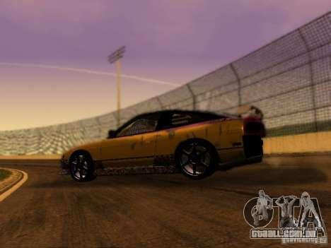 Nissan 240sx Street Drift para GTA San Andreas esquerda vista