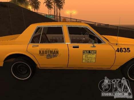 Chevrolet Caprice 1986 Taxi para GTA San Andreas traseira esquerda vista