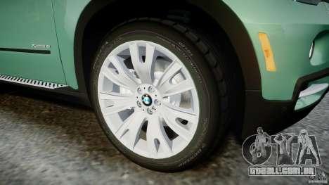 BMW X5 Experience Version 2009 Wheels 223M para GTA 4 vista inferior