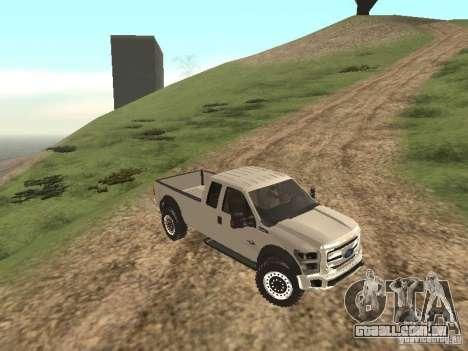 Ford Super Duty F-550 para GTA San Andreas esquerda vista