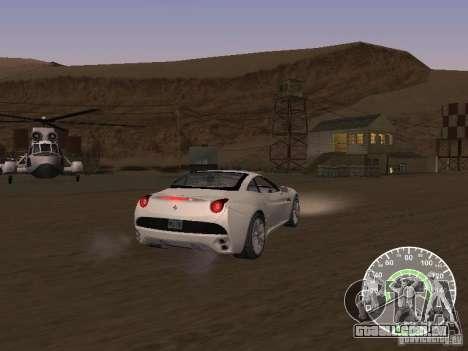 Ferrari California v1 para GTA San Andreas traseira esquerda vista
