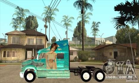 Peterbilt 387 pele 4 para GTA San Andreas esquerda vista