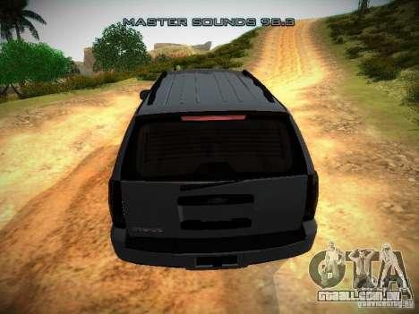 Chevrolet Tahoe HD Rimz para vista lateral GTA San Andreas