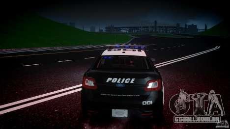 Ford Taurus Police Interceptor 2011 [ELS] para GTA 4 motor