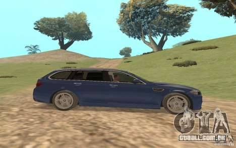 BMW M5 F11 Touring para GTA San Andreas vista superior
