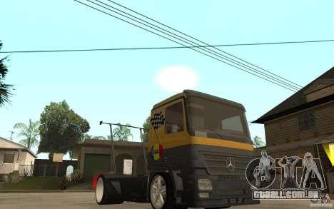 Mercedes Benz Actros Dragster para GTA San Andreas vista traseira