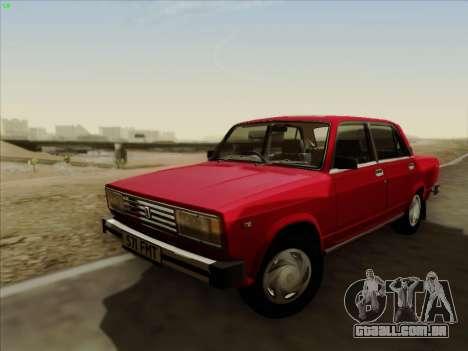 2105 Lada RIVA (exportação) 2.0 para GTA San Andreas traseira esquerda vista