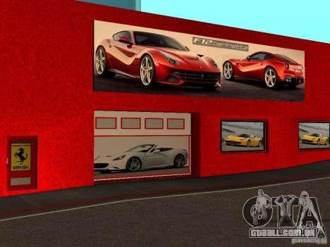 Novo Showroom da Ferrari em San Fierro para GTA San Andreas terceira tela