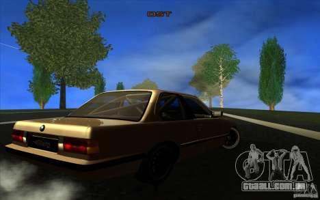 BMW E30 2.7T para GTA San Andreas vista direita