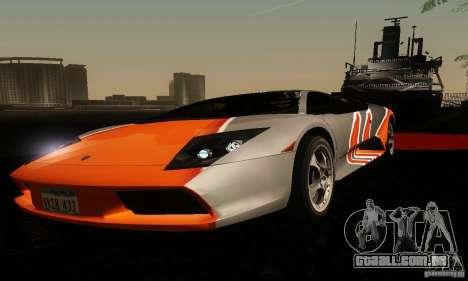 Lamborghini Murcielago para GTA San Andreas vista interior