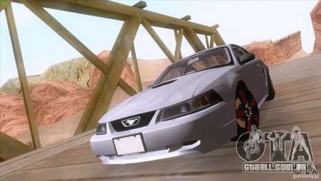 Ford Mustang GT 1999 para GTA San Andreas vista interior