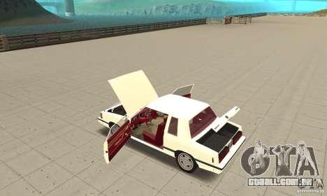 Dodge Aries 1983 para GTA San Andreas vista interior