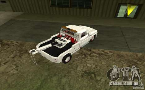 Chevrolet guincho para GTA San Andreas traseira esquerda vista