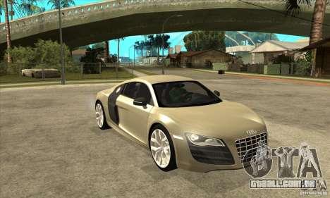 Audi R8 V10 5.2 FSI Quattro para GTA San Andreas vista traseira