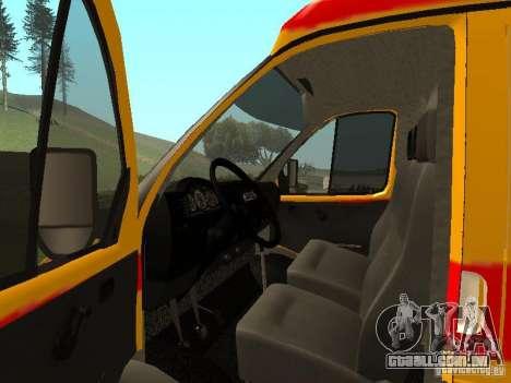 GÁS ressuscitação 32217 para GTA San Andreas vista direita