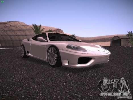 Ferrari 360 Modena para GTA San Andreas esquerda vista