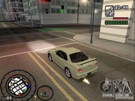 Fogo dos escapamentos v 2.0 para GTA San Andreas