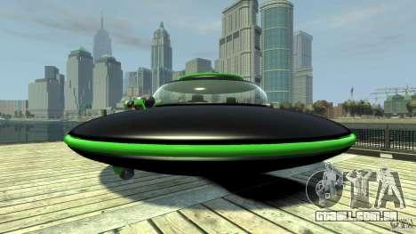 UFO neon ufo green para GTA 4 traseira esquerda vista