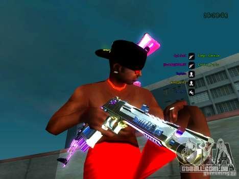 Cromo roxo em armas para GTA San Andreas segunda tela