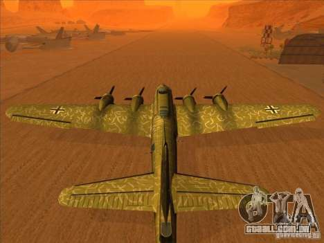 G B-17 Flying Fortress (versão Nightfighter) para GTA San Andreas esquerda vista