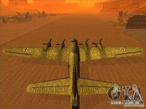 G B-17 Flying Fortress (versão Nightfighter) para GTA San Andreas esquerda vista