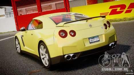 Nissan GT-R R35 2010 v1.3 para GTA 4 traseira esquerda vista