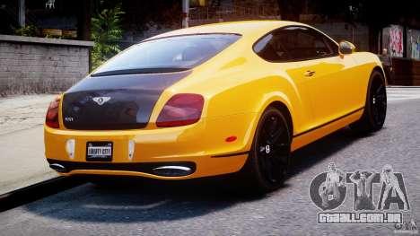 Bentley Continental SS 2010 ASI Gold [EPM] para GTA 4 traseira esquerda vista