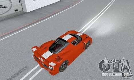 Ferrari FXX para GTA San Andreas traseira esquerda vista