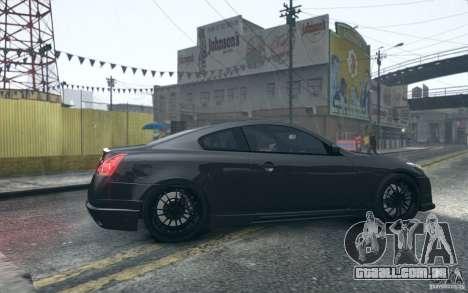 Infiniti G37 Coupe Carbon Edition v1.0 para GTA 4 vista de volta