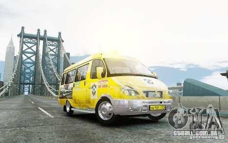 Gazela 2705 táxi v 2.0 para GTA 4 traseira esquerda vista