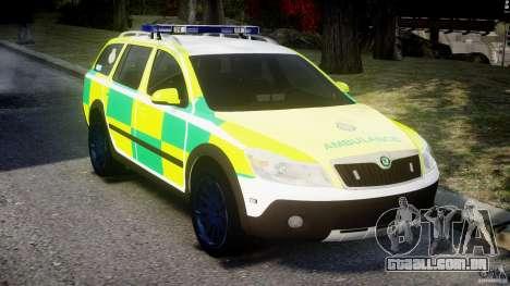 Skoda Octavia Scout Paramedic [ELS] para GTA 4 vista direita