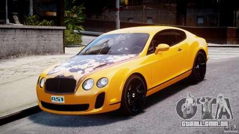 Bentley Continental SS 2010 ASI Gold [EPM] para GTA 4 vista de volta