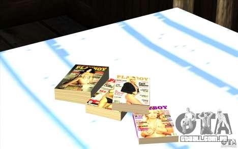 Playboy Magazines para GTA San Andreas terceira tela