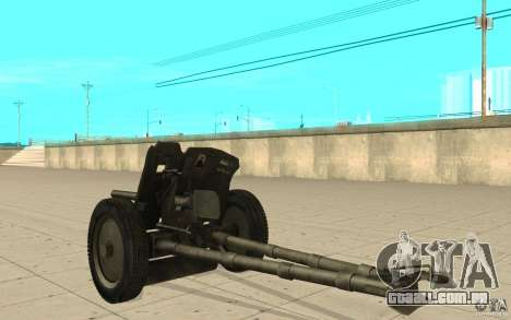 Arma de Regimento, 53-45 mm para GTA San Andreas traseira esquerda vista