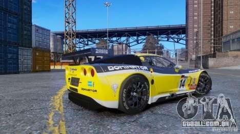 Chevrolet Corvette C6R GT1 para GTA 4 esquerda vista