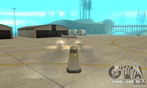 Dalek Doctor Who para GTA San Andreas vista traseira