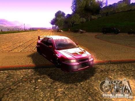 Mitsubishi Lancer Evolution VI GSR 1999 para GTA San Andreas traseira esquerda vista