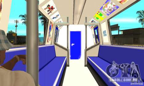 Liberty City Train Sonic para GTA San Andreas vista direita