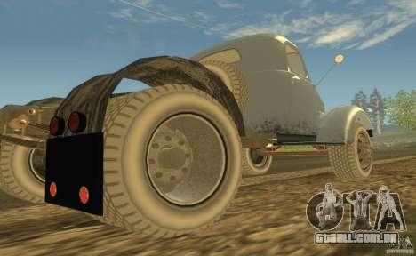 ZIL 164 trator para GTA San Andreas vista traseira