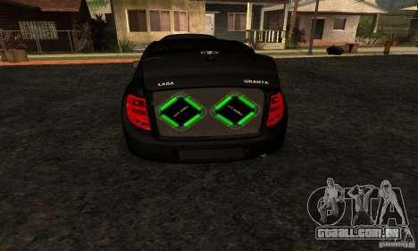 Lada Granta Dag Style para GTA San Andreas vista direita