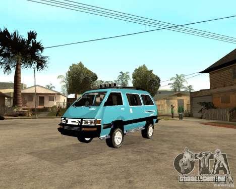 Toyota Town Ace para GTA San Andreas vista direita