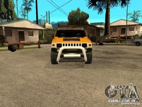 Hummer H2 4x4 diesel para GTA San Andreas esquerda vista