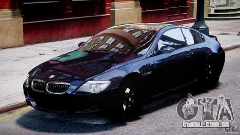 BMW M6 Orange-Black Bullet para GTA 4 esquerda vista