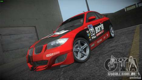 BMW 135i Coupe Road Edition para GTA San Andreas vista inferior