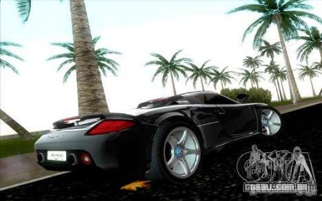 Porsche Carrera GT para GTA Vice City vista direita