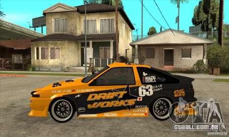 Toyota Corolla GT-S DriftWorks para GTA San Andreas esquerda vista